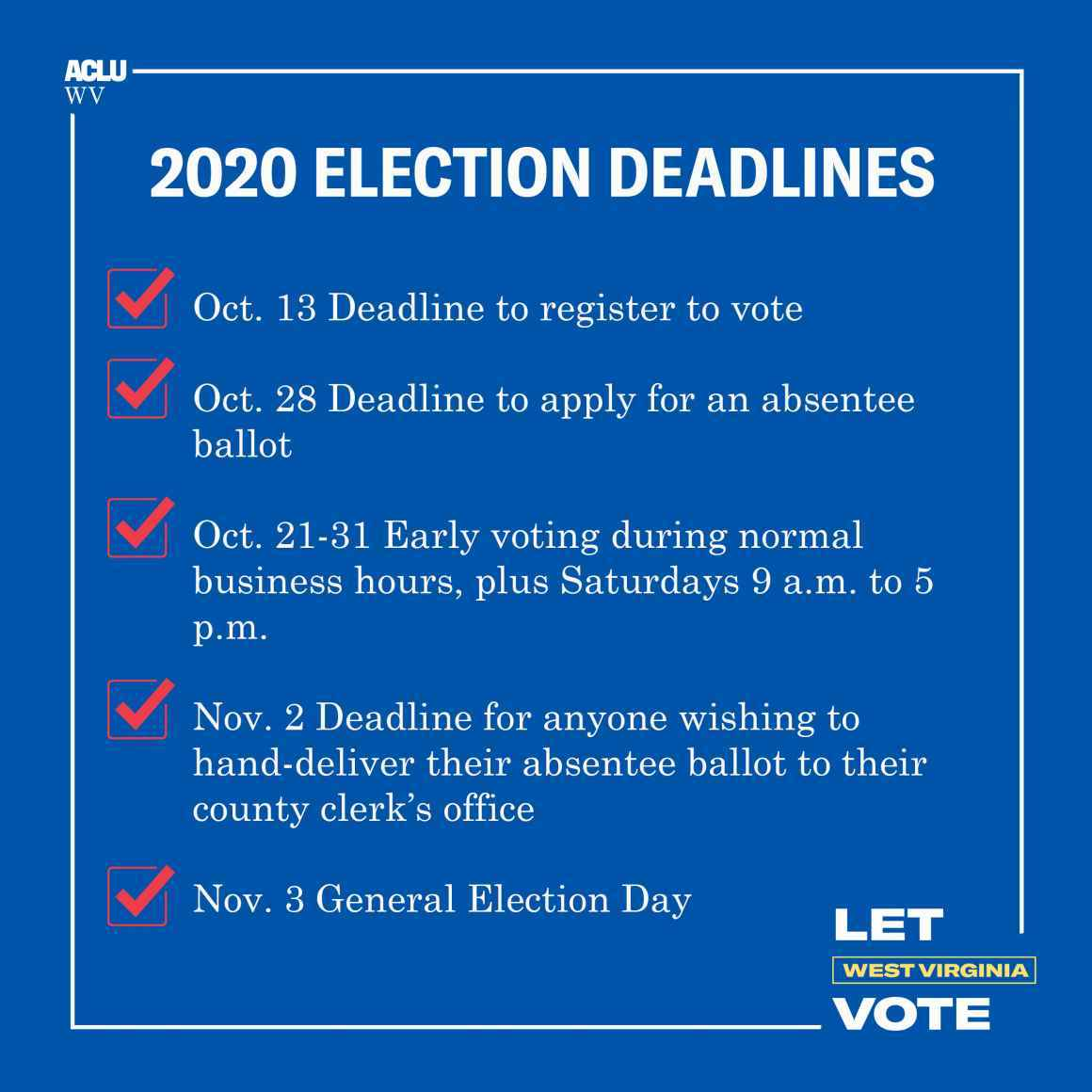 2020 Election Deadlines