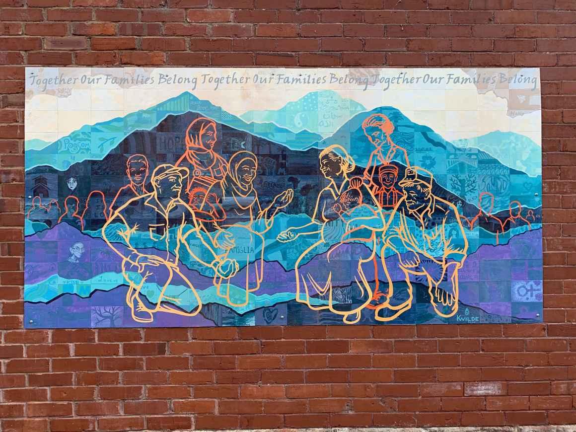 Families Belong Together Mural