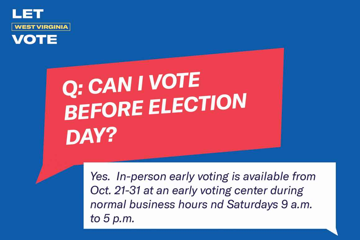 Can I vote before election day? Yes. Early voting is available Oct. 21-31.