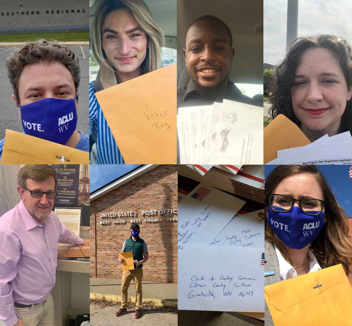 ACLU staff members and volunteers collected and mailed voter registration forms at all 10 of West Virginia's regional jails.