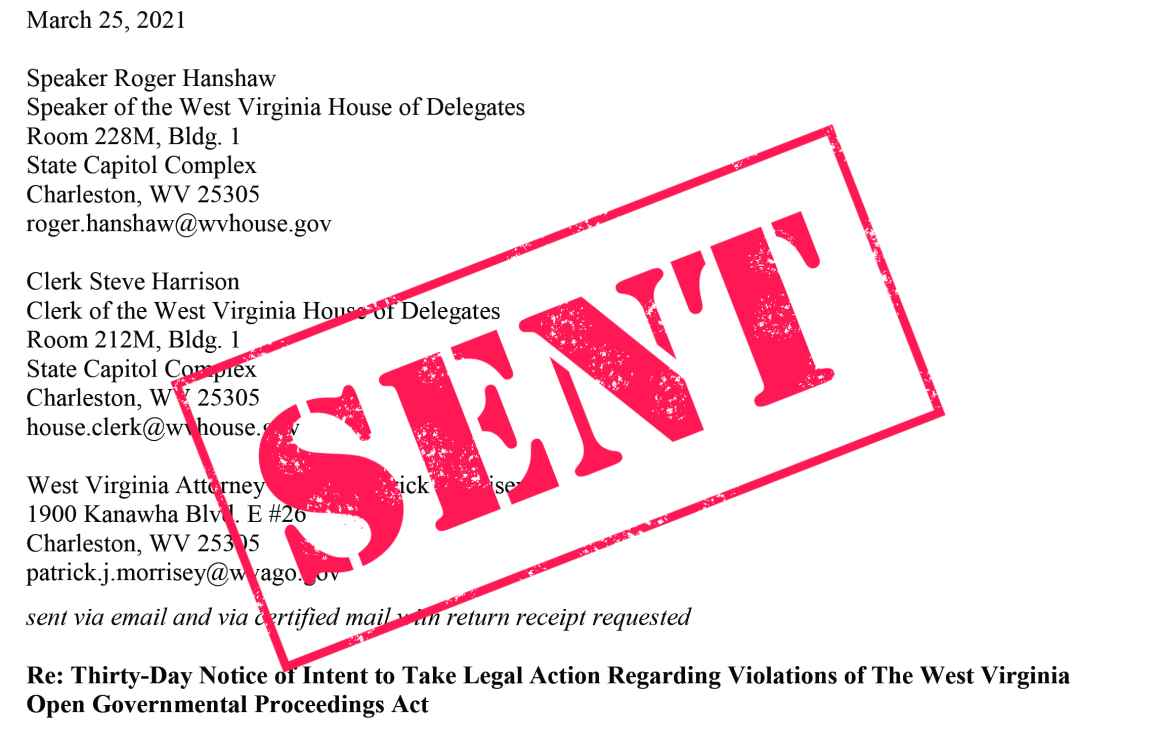 30-day notice of intent to sue