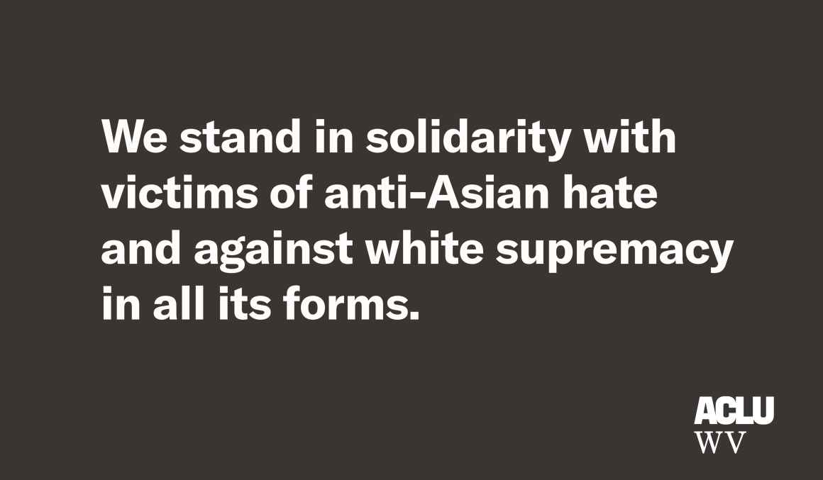 We stand in solidarity with victims of anti-Asian hate and against white supremacy in all its forms