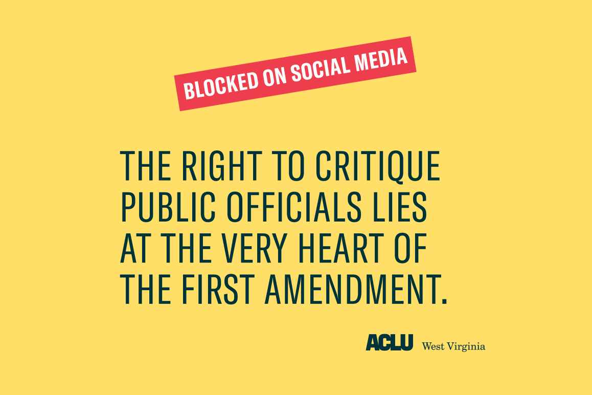 Image says THE RIGHT TO CRITIQUE PUBLIC OFFICIALS LIES  AT THE VERY HEART OF  THE FIRST AMENDMENT.