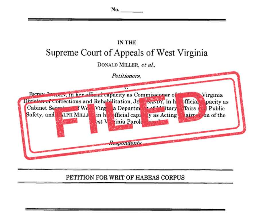 """A copy of the habeas petition with """"FILED"""" stamped over it in red ink"""