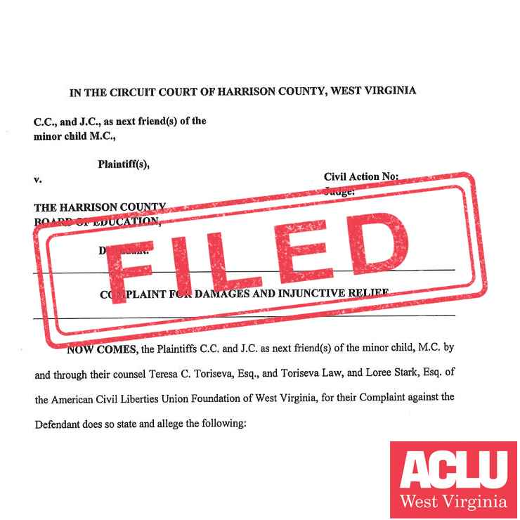 FILED stamped over legal complaint