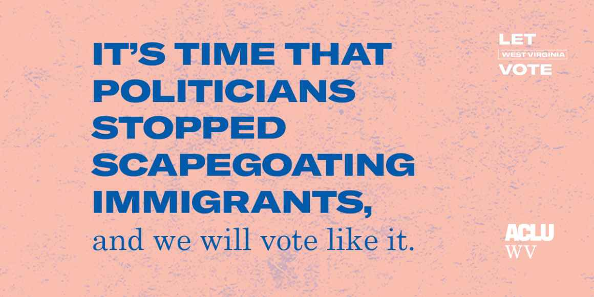 It's time that politicians stopped scapegoating immigrants, and we will vote like it.
