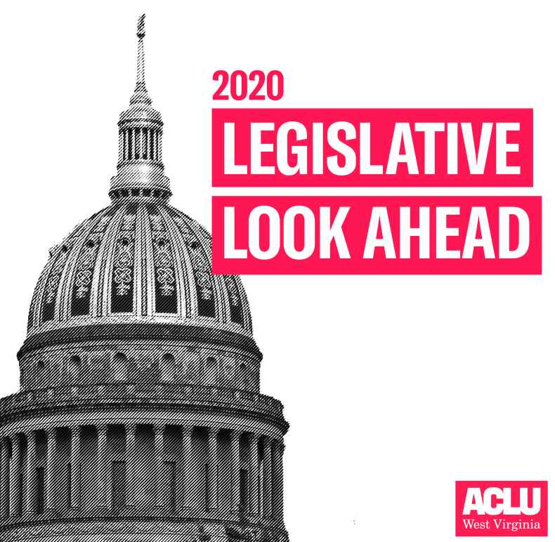 "Black and White Photo of the WV Capitol with the Words ""2020 Legislative Look Ahead"" superimposed"
