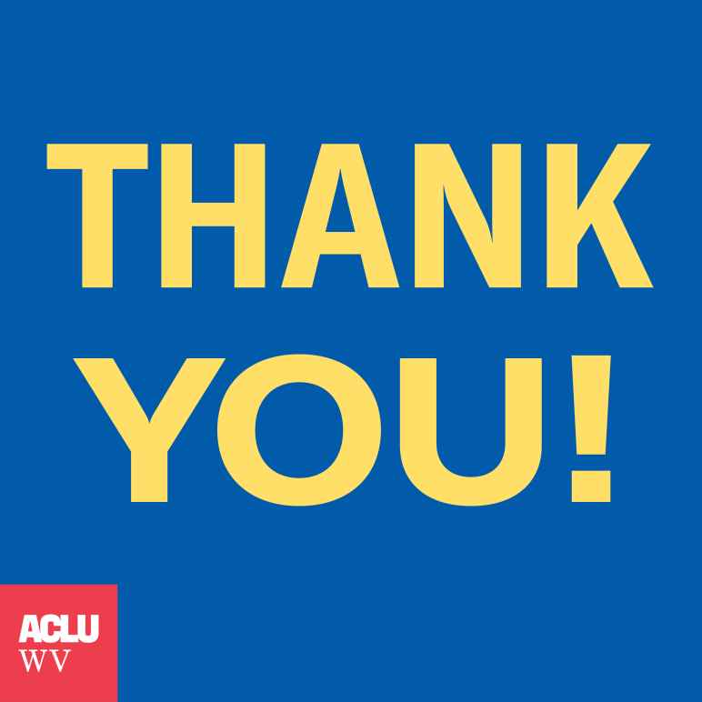 Thank You from ACLU-WV