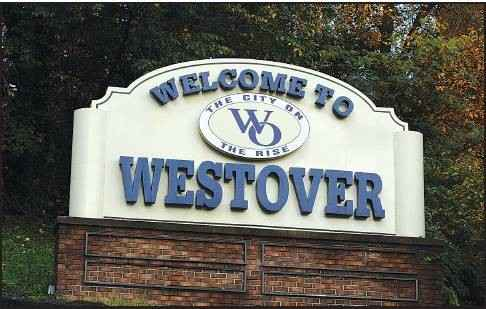 Photo of a sign reading Welcome to Westover